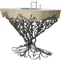 Quiescence 32 Inch Vessel Sink Pedestal with Choice of Finish