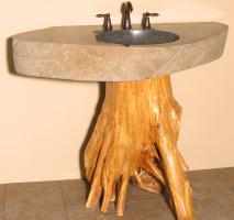 42 Inch Tree Trunk Vessel Sink Vanity