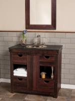 Native Trails 37 Inch Single Sink Bath Vanity in Cabernet