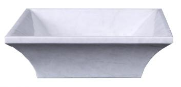 Hunan White Marble Square Vessel Sink