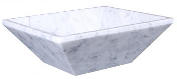 Bianco Carrara Marble Rectangular Vessel Sink