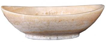 Honey Onyx Marble Oval Vessel Sink