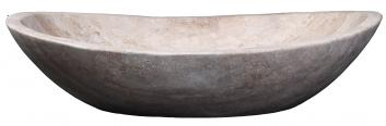 Beige Travertine Marble Oval Vessel Sink