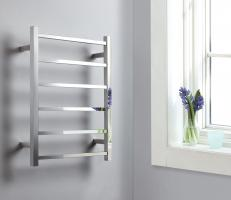 Polished Chrome Towel Warmer with 6 Warming Bars