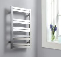 Brushed Nickel Towel Warmer with 10 Warming Bars