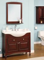 38 Inch Single Sink Narrow Depth Furniture Bathroom Vanity with Choice of Finish and Sink