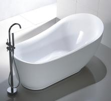 71 Inch White Acrylic Tub