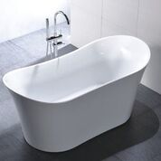 67 Inch White Acrylic Tub