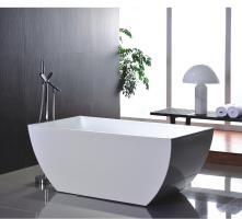 67 Inch White Acrylic Tub