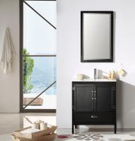 30 Inch Modern Single Sink Vanity in Black