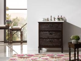 30 Inch Modern Single Sink Vanity in Brown