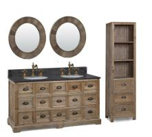 60 Inch Double Sink Bathroom Vanity in Natural Oak