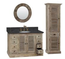 48 Inch Single Sink Bathroom Vanity with Black Marble