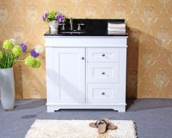 37 Inch Single Sink Bathroom Vanity with Choice of Countertop