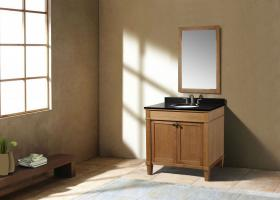 36 Inch Transitional Single Sink Vanity in Light Brown