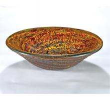 Orange Round Vessel Sink
