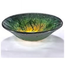 Yellow and Grey Round Vessel Sink