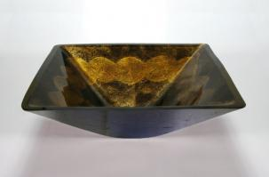 Antique Gold Square Vessel Sink