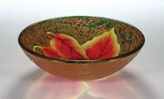 Autumn Leaf Round Vessel Sink
