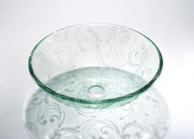Round Glass Vessel Bathroom Sink