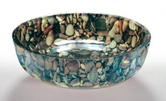 River Rock Round Vessel Sink