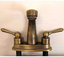 Antique Brass Two Slot Bathroom Vanity Faucet