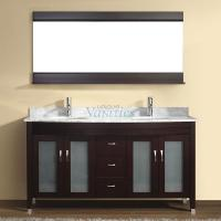 63 Inch Double Sink Bathroom Vanity with Choice of Top in Chai