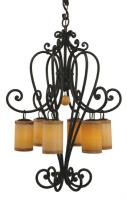 6 Light Campana Chandelier
