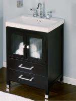 24 Inch Single Sink Modern Bathroom Vanity in Dark Cherry
