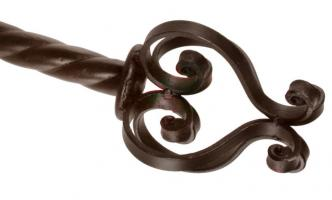 Colonial Wrought Iron Curtain Rod Finials