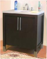 24 Inch Single Sink Modern Bathroom Vanity with Choice of Finish and Counter Top