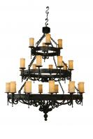 24 Light Three Tier Fleur De Lis Chandelier
