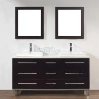 63 Inch Double Sink Bathroom Vanity in Chai
