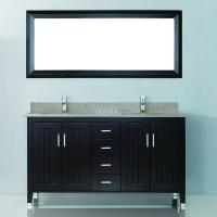 60 Inch Double Sink Bathroom Vanity with Choice of Top in Chai