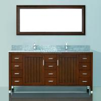 72 Inch Double Sink Bathroom Vanity with Choice of Top in Classic Cherry