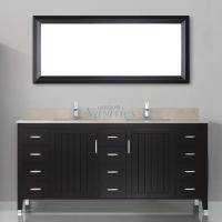 72 Inch Double Sink Bathroom Vanity with Choice of Top in Chai