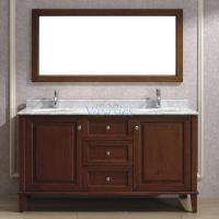 63 Inch Double Sink Bathroom Vanity with Choice of Top in Classic Cherry