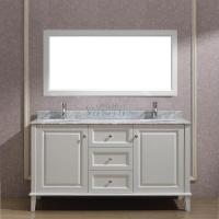 63 Inch Double Sink Bathroom Vanity with Choice of Top in White