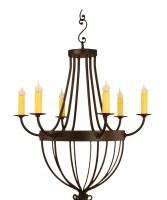 6 Light Sorento Wrought Iron Chandelier