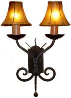 light hand forged wrought iron wall sconce sku